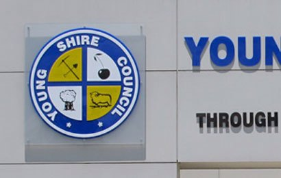 Young Shire Council Cut out Letters
