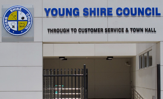 Young Shire Council Cut out Letters 2